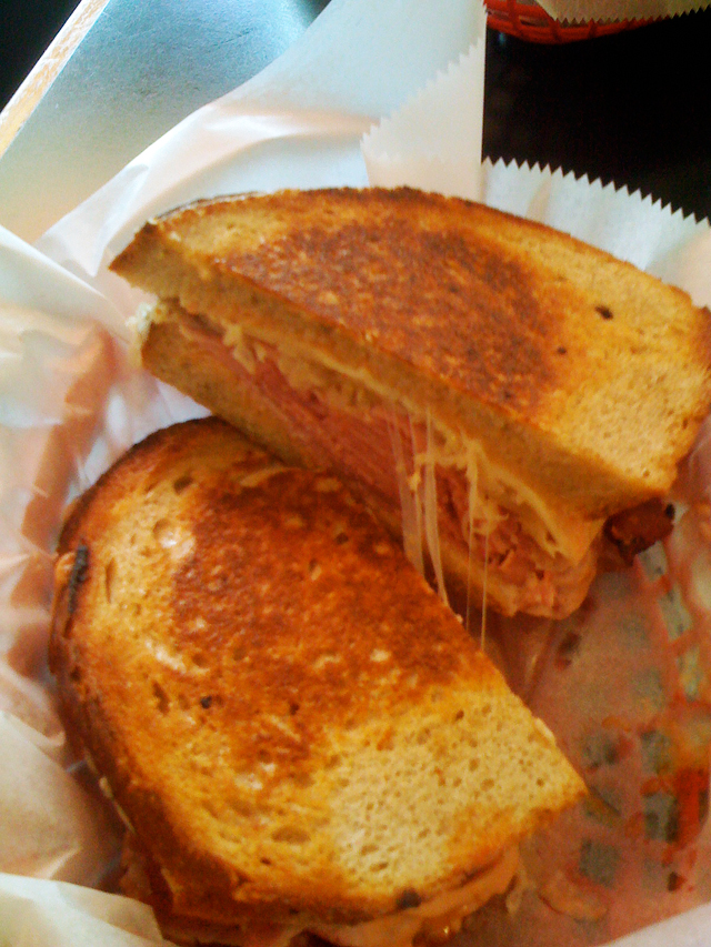 A Reuben sandwich from Katzinger's Deli